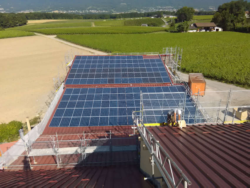 centrale solaire de Satigny
